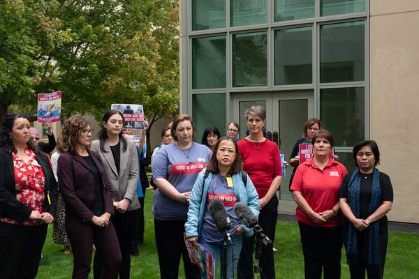 Aged care workers tell Canberra: 'We're exhausted, we need ratios'