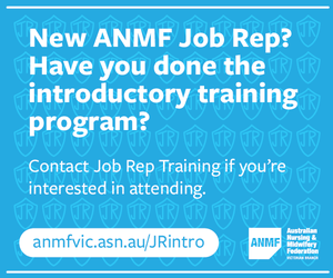 New ANMF Job Rep mrec advertisement