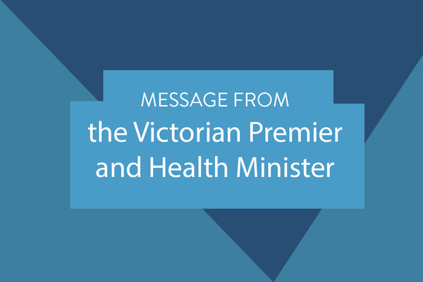 A message to Victorian nurses, midwives and carers