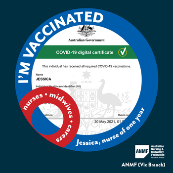 'I'm vaccinated because ...' social media campaign entry.