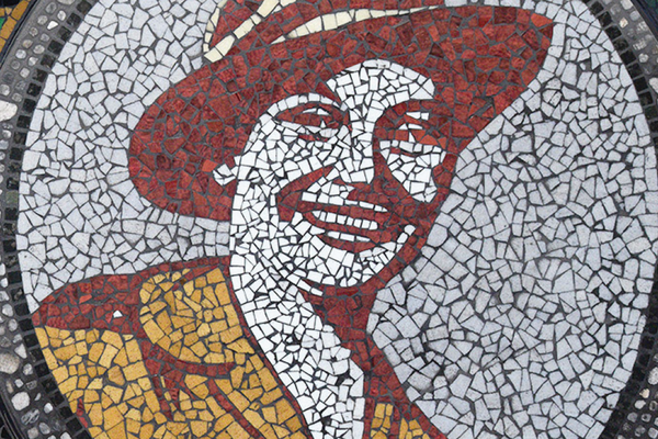 Mosaics honouring wartime legends