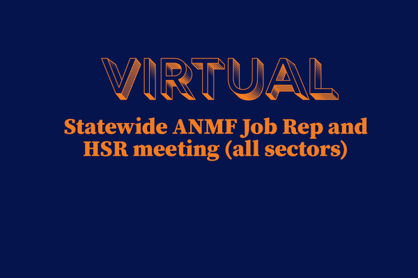 Statewide meeting for all Job Reps and HSRs