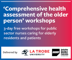 Comprehensive health assessment of the older person workshops mrec advertisement